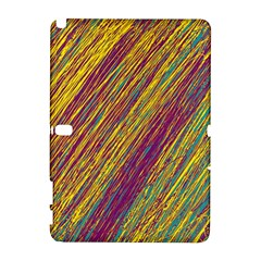 Yellow, purple and green Van Gogh pattern Samsung Galaxy Note 10.1 (P600) Hardshell Case
