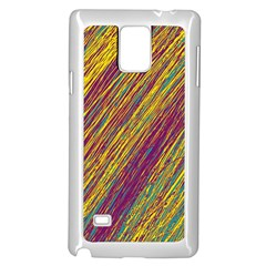Yellow, purple and green Van Gogh pattern Samsung Galaxy Note 4 Case (White)