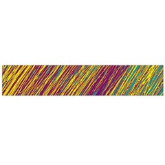 Yellow, purple and green Van Gogh pattern Flano Scarf (Large)