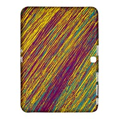 Yellow, purple and green Van Gogh pattern Samsung Galaxy Tab 4 (10.1 ) Hardshell Case