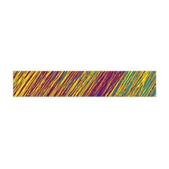 Yellow, Purple And Green Van Gogh Pattern Flano Scarf (mini)