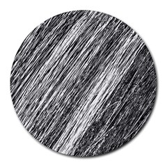 Black and White decorative pattern Round Mousepads
