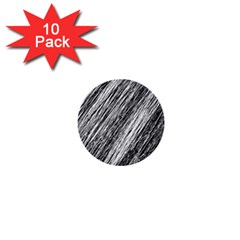 Black and White decorative pattern 1  Mini Buttons (10 pack)