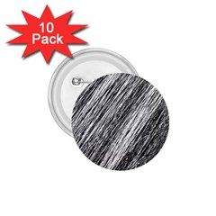 Black and White decorative pattern 1.75  Buttons (10 pack)