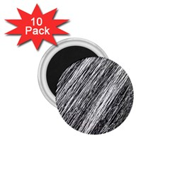 Black and White decorative pattern 1.75  Magnets (10 pack)