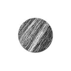 Black and White decorative pattern Golf Ball Marker