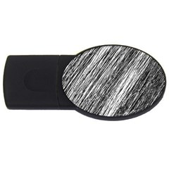 Black and White decorative pattern USB Flash Drive Oval (2 GB)