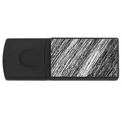 Black and White decorative pattern USB Flash Drive Rectangular (2 GB)