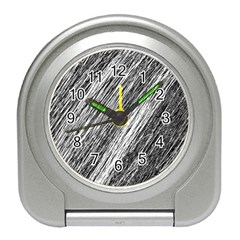 Black and White decorative pattern Travel Alarm Clocks