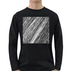 Black and White decorative pattern Long Sleeve Dark T-Shirts
