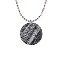 Black and White decorative pattern Button Necklaces