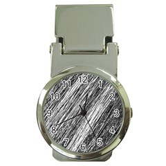 Black and White decorative pattern Money Clip Watches
