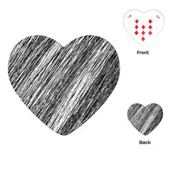 Black and White decorative pattern Playing Cards (Heart)