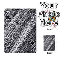 Black and White decorative pattern Playing Cards 54 Designs