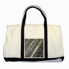Black and White decorative pattern Two Tone Tote Bag