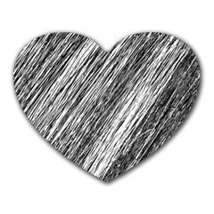Black and White decorative pattern Heart Mousepads