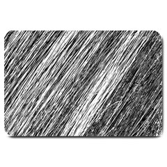 Black and White decorative pattern Large Doormat