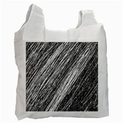 Black and White decorative pattern Recycle Bag (Two Side)