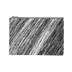 Black and White decorative pattern Cosmetic Bag (Large)
