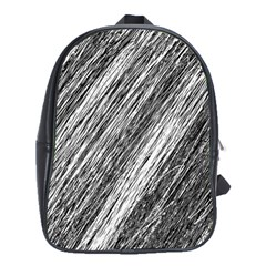 Black and White decorative pattern School Bags(Large)