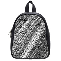 Black and White decorative pattern School Bags (Small)