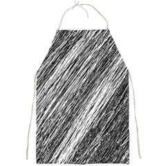 Black and White decorative pattern Full Print Aprons