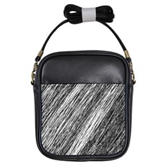 Black and White decorative pattern Girls Sling Bags