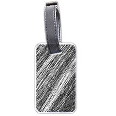 Black and White decorative pattern Luggage Tags (One Side)