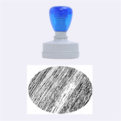 Black and White decorative pattern Rubber Oval Stamps