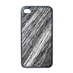 Black and White decorative pattern Apple iPhone 4 Case (Black)