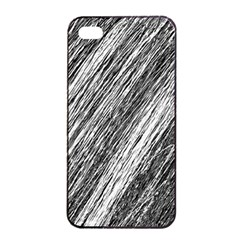Black and White decorative pattern Apple iPhone 4/4s Seamless Case (Black)