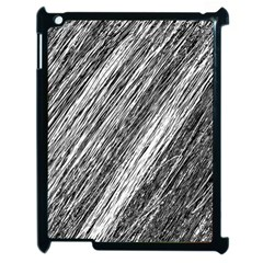 Black and White decorative pattern Apple iPad 2 Case (Black)