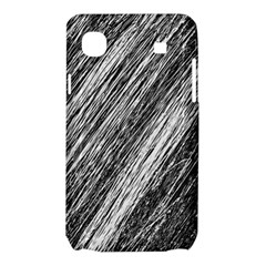 Black and White decorative pattern Samsung Galaxy SL i9003 Hardshell Case