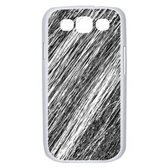 Black and White decorative pattern Samsung Galaxy S III Case (White)