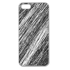 Black and White decorative pattern Apple Seamless iPhone 5 Case (Clear)
