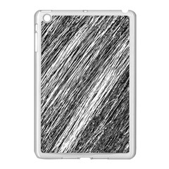 Black and White decorative pattern Apple iPad Mini Case (White)