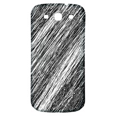 Black and White decorative pattern Samsung Galaxy S3 S III Classic Hardshell Back Case