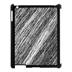 Black and White decorative pattern Apple iPad 3/4 Case (Black)