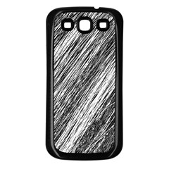Black and White decorative pattern Samsung Galaxy S3 Back Case (Black)