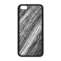 Black and White decorative pattern Apple iPhone 5C Seamless Case (Black)