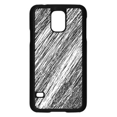 Black and White decorative pattern Samsung Galaxy S5 Case (Black)