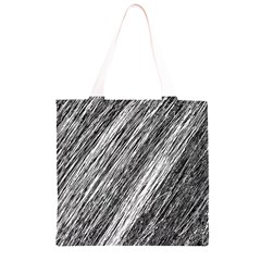 Black and White decorative pattern Grocery Light Tote Bag