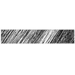 Black and White decorative pattern Flano Scarf (Large)