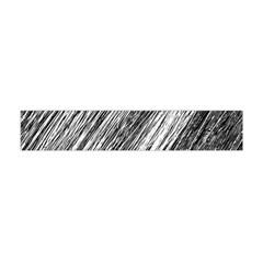 Black and White decorative pattern Flano Scarf (Mini)