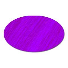 Purple pattern Oval Magnet