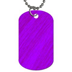 Purple pattern Dog Tag (One Side)