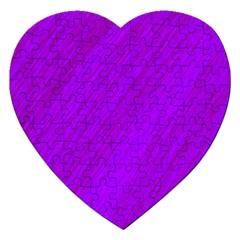 Purple pattern Jigsaw Puzzle (Heart)
