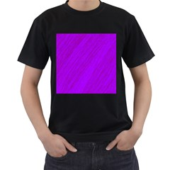 Purple pattern Men s T-Shirt (Black)