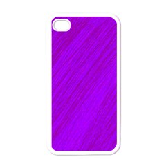 Purple pattern Apple iPhone 4 Case (White)
