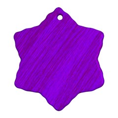 Purple pattern Snowflake Ornament (2-Side)